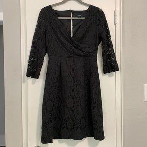 J. Crew Black Lace Dress